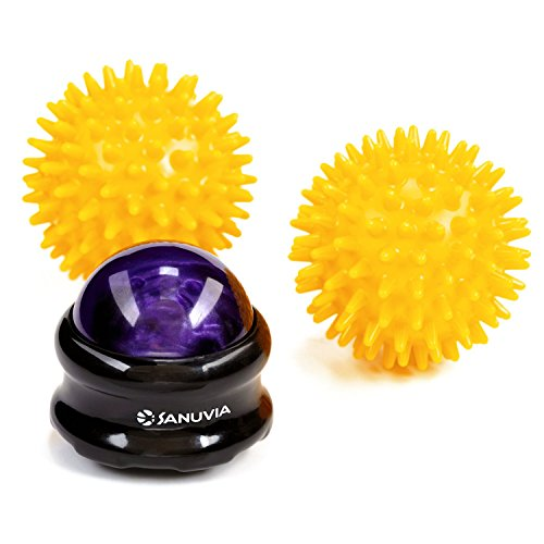 SANUVIA Foot Massage Ball for Joint & Muscle Pain - Back & Lower Back Massage Roller Ball Plus 2 Spiky Balls Set, Trigger Point and Foot Massager, a Self Massage Tool