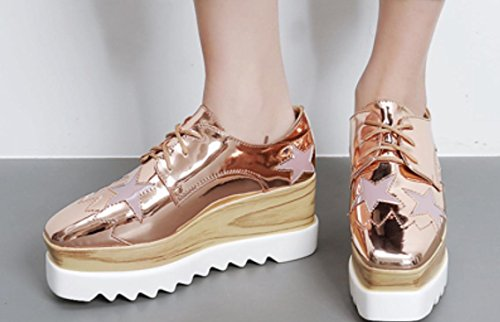 Sohlen lose Schuh weiblichen 35 einzigen Schuhe beiläufige dicken 's XDGG Hang 2017 gold Schuhe Frauen rose wCqTFA