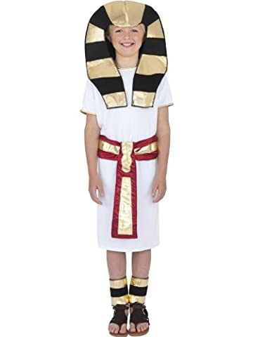 Star55 Big Boys' Egyptian Costume Egyptian Pharaoh King Tut Fancy Dres Costume Large 10-12 Years (King Tut Kostüm Kind)