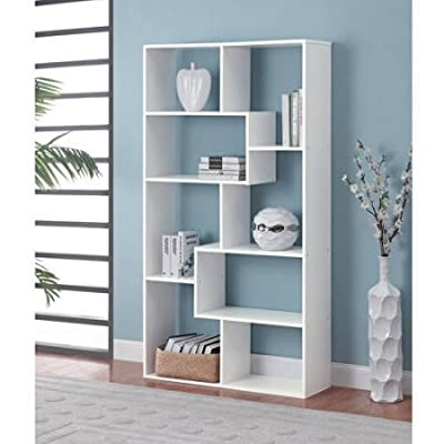 Home 8-Shelf Bookcase - White -  - living-room-furniture, living-room, bookcases-bookshelves - 41zPqDThnYL. SS400  -