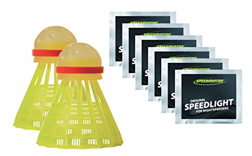 Speedminton Night Play Badminton Birdie Set Including 6 Lights