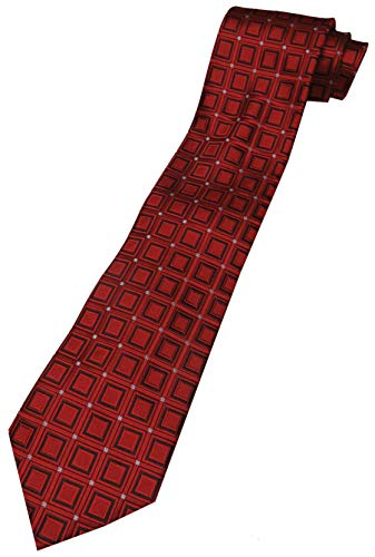 Donald Trump Signature Collection Neck Tie Red Pattern with Gold Emblem - Collection Trump Signature
