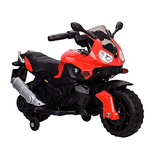 TAMCO Sports Motorcycle Ride On Toy JC917, Electric Power Tricycle with Foot Pedal Starter, Music & Honk & Motorcycle Roar Sound, Super Easy Driving for Kids 2-4 Years Old ()