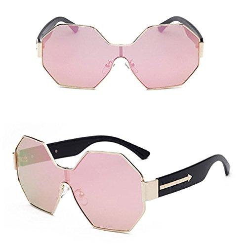 9fee92e44d Gafas De Sol Reflectantes Siameses Hexagonales Gafas De Sol De Metal De Una Pieza  Gafas De
