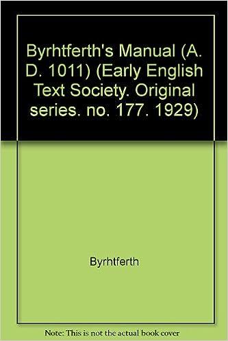 Byrhtferth's Manual (A  D  1011) (Early English Text Society