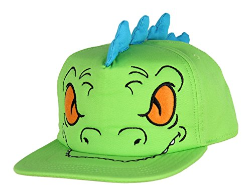 Rugrats Hat Reptar Snapback Bigface Dad Nickelodeon Adult Costume Pop Cap OSFM Green]()