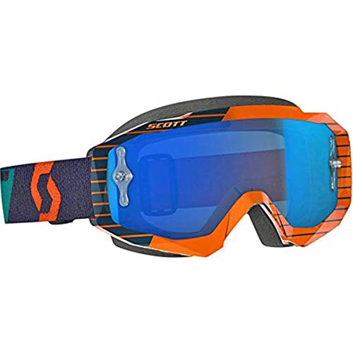 Scott Hustle Adult Off-Road Motorcycle Goggles - Orange/Blue/Blue Chrome/One Size