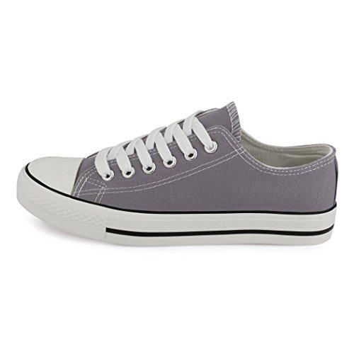 best-boots Damen Turnschuh Sneaker Slipper Halbschuhe sportlich New Grey