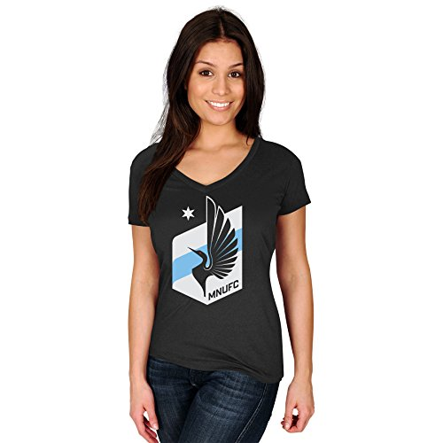 Minnesota United FC MLS Women's Team Logo T-Shirt Black (Small)