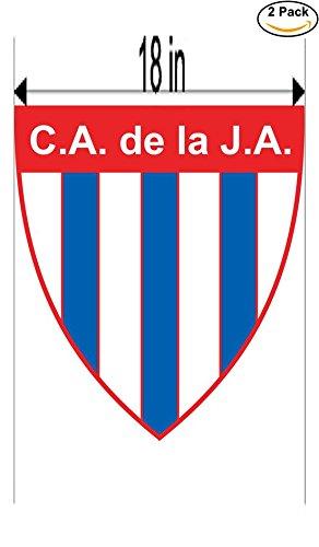 CanvasByLam Clube Atletico de la Juventud Alianza de San Juan Argentina Soccer Football Club FC 2 Stickers Car Bumper Window Sticker Decal Huge 18 inches