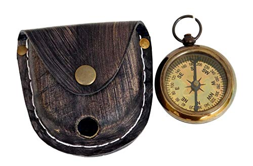 (Amazing Art Handicrafts Brass Pocket Compass Nautical White Star Line R.M.S Titanic 1912 Item)