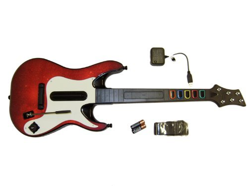 Wireless Guitar Controller PS3 PS2 Guitar Hero and Band Hero Games - BULK PACKAGED Playstation ()