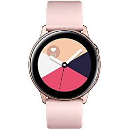 Samsung Galaxy Watch Active (40MM, GPS, Bluetooth) Smart Watch with Fitness Tracking, and Sleep Analysis – Rose Gold  (US Version)
