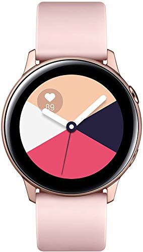 SAMSUNG Galaxy Watch Active (40MM, GPS, Bluetooth) Smart Watch with Fitness Tracking, and Sleep Analysis – Rose Gold (US…