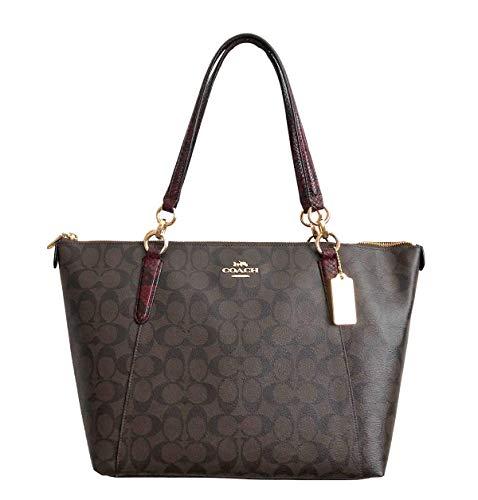 (Coach AVA Shopper Tote Bag Handbag (IM Brown)