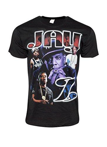 FLEA ALLEY Mens Vintage Hip Hop Printed T-Shirts Jay-Z Purple(XXL, Black)