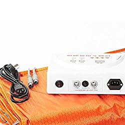 TTLIFE Body Shaper Weight Loss 2 Zone Controller Sauna Slimming Blanket Professional Detox Therapy Anti Ageing Beauty Machine 110V (Orange)
