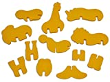 Animal Cracker 3D Cookie Cutter Set, Elephant Cookie Cutter, Giraffe Cookie Cutter, Brownie Cutter, Cartoon Animal Cookie Cutter Set.