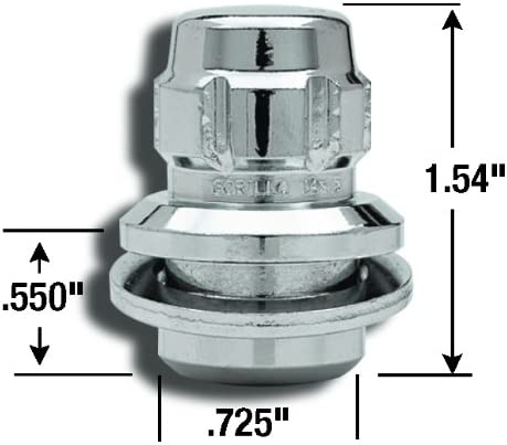 Gorilla Automotive 73633T The System Toyota Mag Wheel Locks With Washers 12mm x 1.50 Thread Size For 5 Lug Wheels