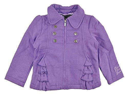 Calvin Klein Baby Girls Purple Jacket 3pc Denim Pant Set (18M)