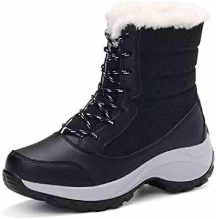1aa7a5bd5c Rampmu Women Autumn Casual Snow Boots Outdoor Waterproof Warm Shoes Snow  Boots