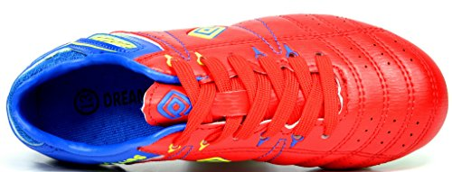 DREAM PAIRS Mens 160471-M Cleats Football Soccer Shoes Red/Royal/Lemon Green BpggC