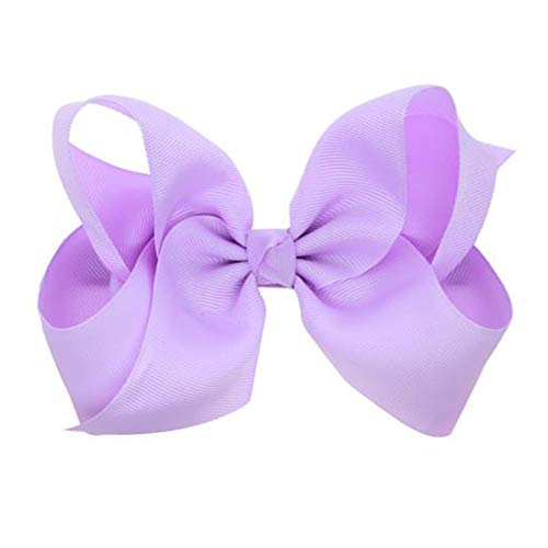 - Hair Clips Boutique Hair Bows Alligator Clip for Women Girl Hairpin 6 Inch TSFJ02 (Light Purple)
