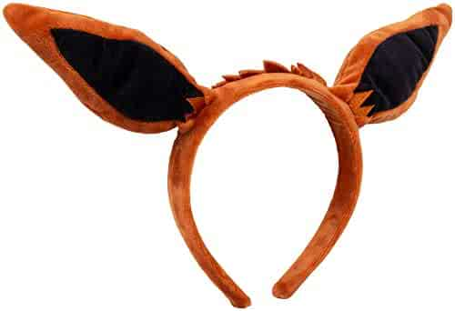 Pokémon Eevee Plush Headband - Eevee Ears for Dress Up, Halloween and More - One Size Fits All