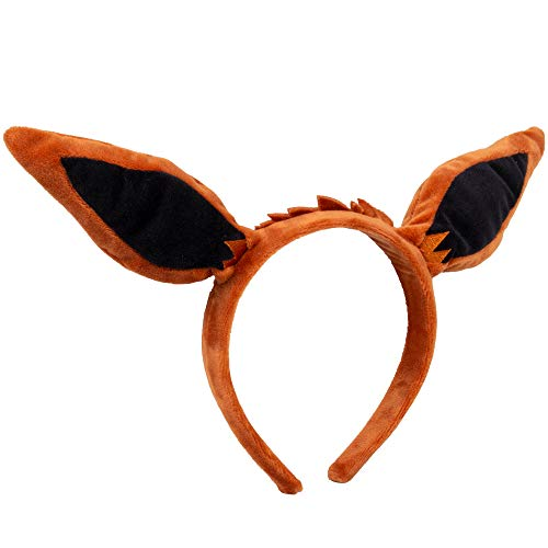Pokémon Eevee Plush Headband - Eevee Ears for Dress Up, Halloween and More - One Size Fits All -