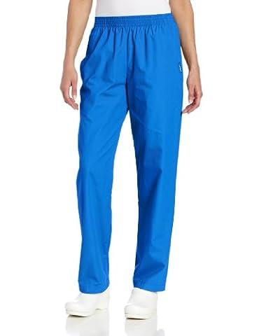 Landau Women's Petite Classic Relaxed Scrub Pant, Royal Blue, Petite/Large