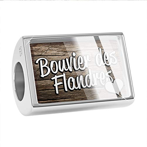 NEONBLOND Charm Bouvier des Flandres, Dog Breed Belgium 925 Sterling Silver Bead ()