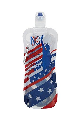 Sharkskinzz 16oz Reusable Folding Water Bottle - NYC America
