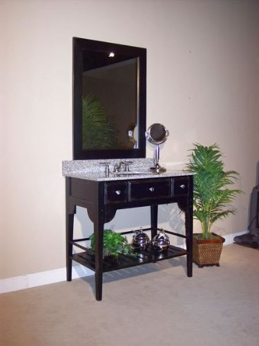 Dover Vanity Mirror (27 in. W x 39 in. H in Distressed Black)