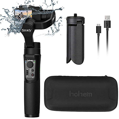 Hohem iSteady Pro 2-3-Axis Splash Proof Gimbal Stabilizer for GoPro, DJI OSMO Action Camera, GoPro Gimbal with Tripod, APP Control for Gopro Hero 7, SJCAM, YI, Sony RX0