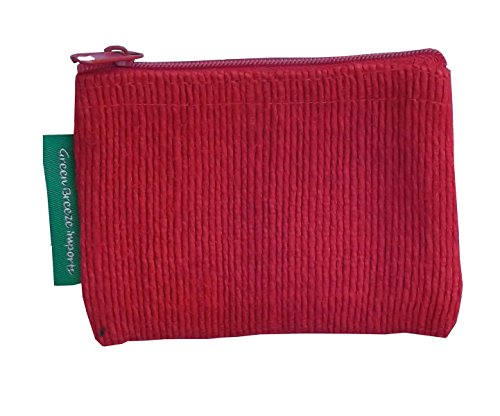 Green Breeze Imports Red Handmade Abaca Flat Coin Purse (2 pack)