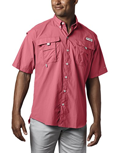 Columbia Sportswear Mens Bahama II Short Sleeve Shirt, Sunset Red, 4X