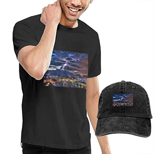 Holiday York Hat New Knicks - Men's Short Tee City Crew Neck T-Shirts and Baseball Cap Cotton Sleeve Shirts with Cowboy Peaked Hat