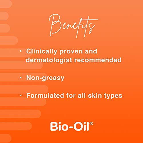 Bio-Oil Skincare Oil, 4.2 Ounce, Body Oil for Scars and Stretchmarks, Hydrates Skin, Non-Greasy, Dermatologist…