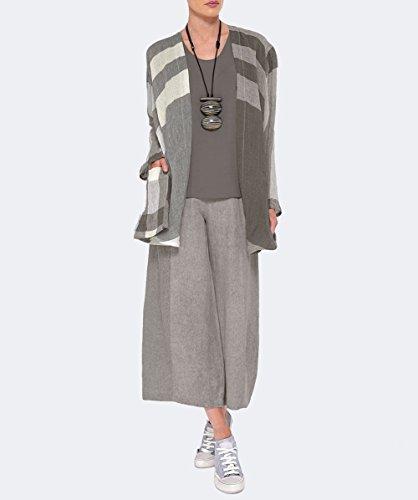 Ralston Mujeres chaqueta de lino fia check Sand Sand