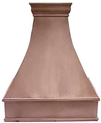 "Copper Best H7 362142SP Copper Oven Hood for Kitchen with Range Hood Inserts(motor fan, lighting, liner) Wall Mount 36"" x 42""H"