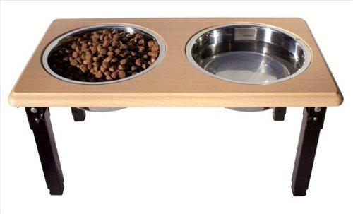 - Ethical Pets Posture Pro Adjustable Double Diner 2qt Brown