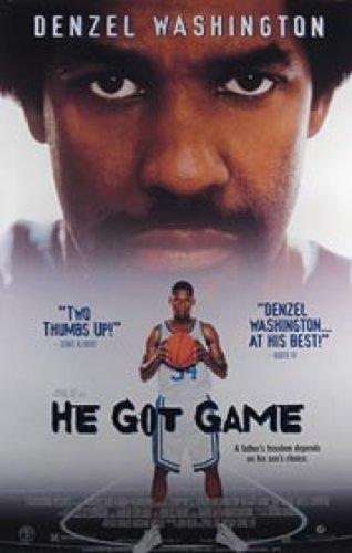 He Got Game Video 27X40 Denzel Washington Poster from Silverscreen