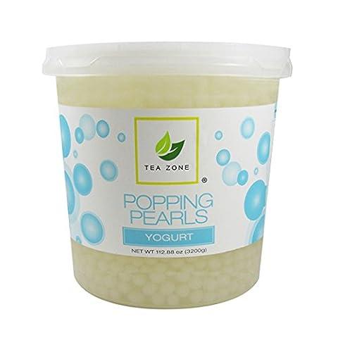 Apex Tea Zone Yogurt Popping Pearls 7lbs Jar - Coffee Yogurt