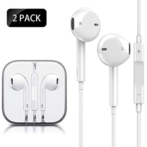 QIANXIANG Headphones,3.5mm Earbuds/Earphones, Wired Noise Isolating Built-in Microphone & Volume Control Compatible with Apple iPhone 6s 6 Plus 5s 5c 5 4s SE iPad iPod 7 All 3.5mm Earbuds Devices