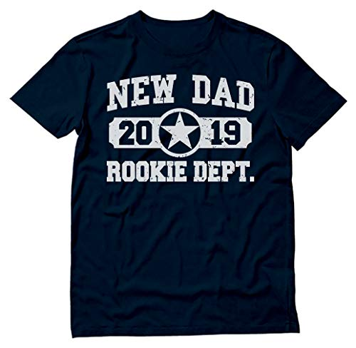 TeeStars - New Dad 2019 Rookie Department New Father Gift T-Shirt Medium Navy (Best Gifts For Fathers Day 2019)