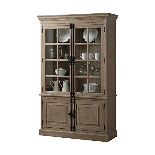 Acme Furniture Eleonore Curio Cabinet, Weathered Oak ()