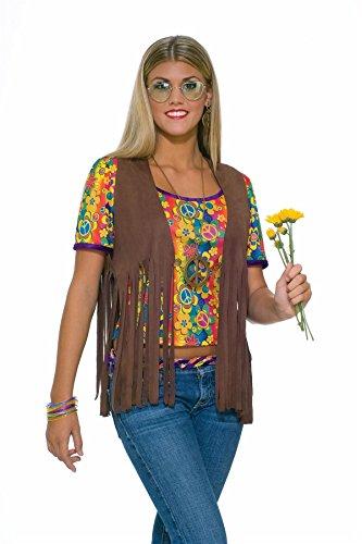 61662 (Faux Suede Hippie Vest Adult Costumes)