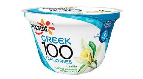YOPLAIT YOGURT GREEK 100 CALORIES VANILLA 5.3 OZ PACK OF 7