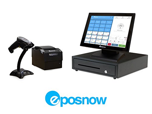 Retail Point of Sale System - Includes Touchscreen PC, POS Software (EPOS Now), Receipt Printer, Scanner, and Cash Drawer.