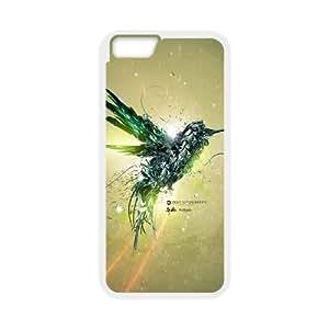 iPhone 6 Plus 5.5 Inch Cell Phone Case White Green Bird Flight SU4419581